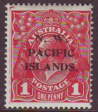 NEW GUINEA  - N.W.P.I  Sg67 1d Red KGV Overprint Type A Mint