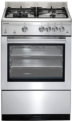 Euromaid GEGFS60 Stainless Steel Gas Oven Gas Cooktop