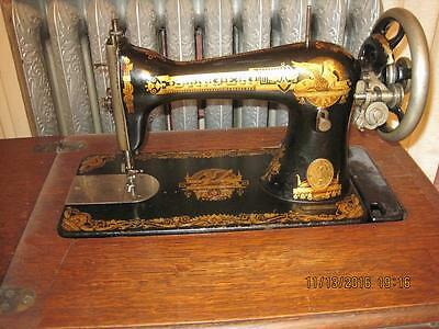 Singer Model 15 Treadle Sewing Machine In #24 Parlor Cabinet