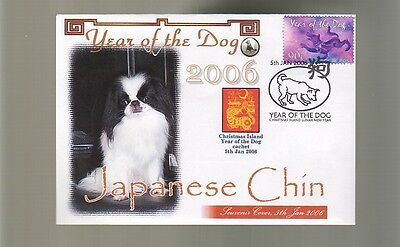 Japanese Chin Stamp Cover, 2006 C/i Year Of The Dog 1