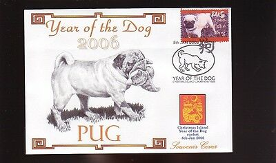 Pug Year Of The Dog Stamp Souvenir Cover 2