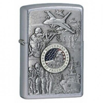 Zippo Joint Forces Street Chrome Windproof Lighter Brand New