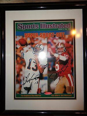Montana And Marino Dual Signed Sports Illustrated Super Shootout Upperdeck
