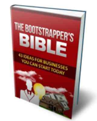 The Bootstrapper's Bible eBook-PDF Master Resell Rights