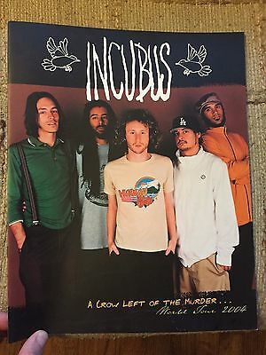 Vintage Incubus A Crow Left of the Murder World Tour 2004 Program Concert Book