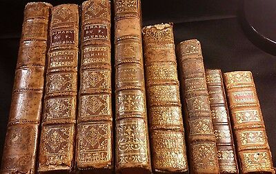 1700s - Lot of 7 Old Religious Books & Volume of Selected works of Abbe Prevost