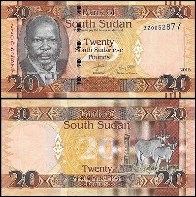 South Sudan 20 Pounds, 2015, P-NEW, UNC, REPLACEMENT