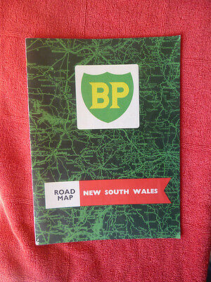 Old Australian B.p Road Map Of New South Wales