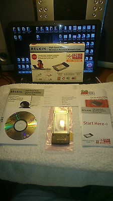 Belkin Wireless G Notebook Laptop Network Internet Card CardBus PC 125