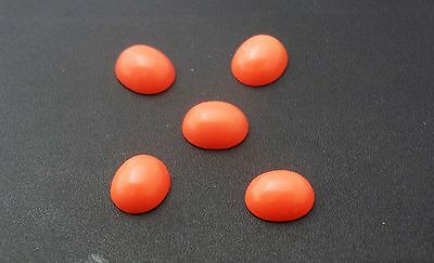 Coral 12x10mm Oval Cabochon Shape Loose Stones