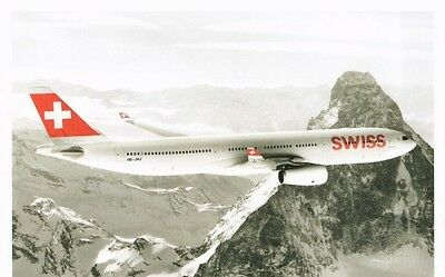 Airline issue postcard - Swiss Airbus A330-300