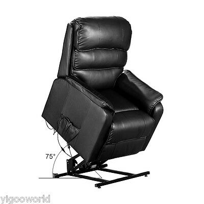 Bonded Leather Electric Rise and Recline Mobility Chair Lift Tilt Riser Recliner