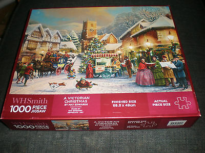 WH Smith 1000 piece Jigsaw Puzzle A Victorian Christmas by Mat Edwards