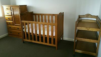 Babyco Heirloom collection Nursery cot, change table and wardrobe