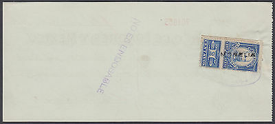 1901 Old Mexico Used Cheque / Check with Revenue Stamp per scans Ref: 004