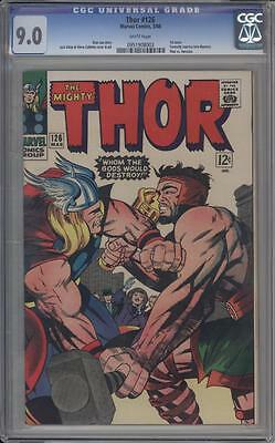THOR 126 - CGC  9.0 - 1st Thor Issue - Hercules Appears - Marvel Comics