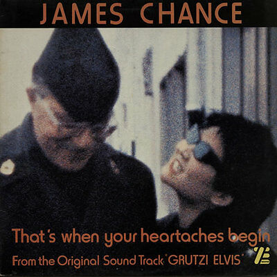 """James Chance & The Contortions That's When Your Heartaches Begin 12""""  record ("""
