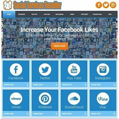 Social Media Reseller Outsourced Website - Easy Install - Sell 8 Services