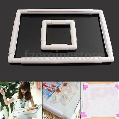 Universal Plastic Embroidery Frame Cross Stitch Hoop Sewing Hand Craft Tool
