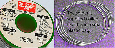 4 Metres of 1.2mm Multicore 63/37 (Eutectic) solder ... hard to find !
