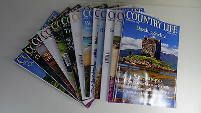 Country Life Magazine Bundle: 13 in Total