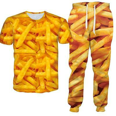 Yummy French Fries Junk Food 3d Print Women Men Tracksuit Jogging Suit  Outfits