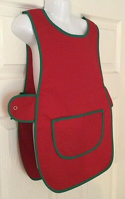 Brand New Choose Size Childrens Kids Tabard Apron Kids Red Cooking Arts Craft
