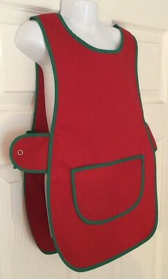 Wholesale Job Lot 10 Brand New Red Kids Tabards Aprons Green Clothes Craft