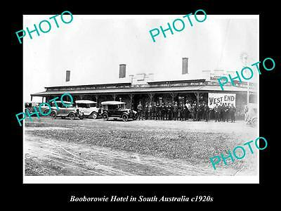 OLD LARGE HISTORIC PHOTO OF BOOBOROWIE SOUTH AUSTRALIA, THE TOWN HOTEL c1920s