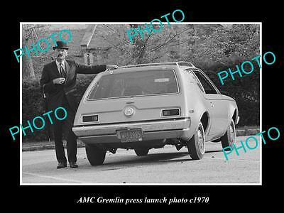 OLD LARGE HISTORIC PHOTO OF AMC GREMLIN CAR LAUNCH PRESS PHOTO 4 c1970