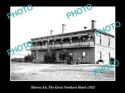 Old Large Historic Photo Of Maree South Australia, The Great Northern Hotel 1923