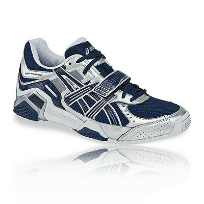 ASICS Mens Lift Trainer Blue Weightlifter Cross Training Gym Trainers Shoes New