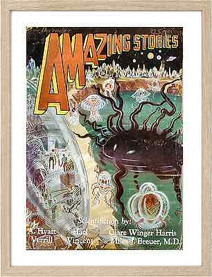 Framed A3  Vintage Sci Fi Magazines 1571 Amazing Stories 29 II