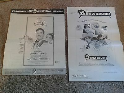 Jerry Lewis Pressbooks Cinderfella! 3 On A Couch! Vintage Paramount Movies '60s!