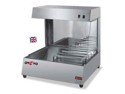 NEW OVEVO Counter top chips scuttle chip dump French Fries Display Warmer UK .