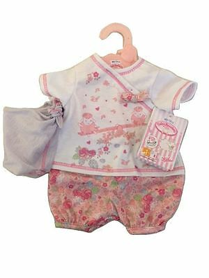 New Zapf Creation Baby Annabell First Floral Outfit Set With Hat For Dolls
