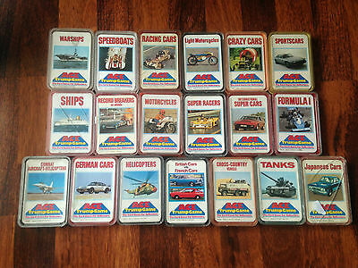 Ace Top Trumps 70s Warships Racers Tanks Sports Cars German Japanese