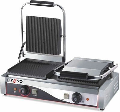 Ovevo Double contact ,Electric Sandwich maker,Toaster, Commercial Pannini Grill