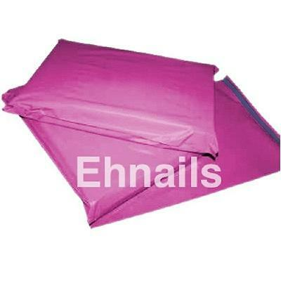 """25 Pink Mailing Bags 10""""x14"""" Postal Plastic Postage Mail Mailers Bags       KB35"""