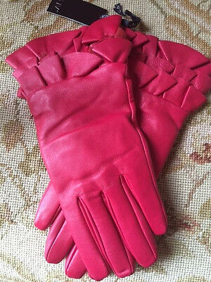 Fabulous Red Leather Gloves Size M/L - BNWT