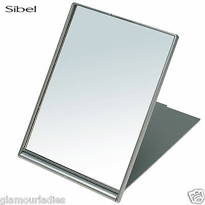 Sibel Silver Folding Fold Up Shaving Mirror - 13 x 17 cm Salon Use