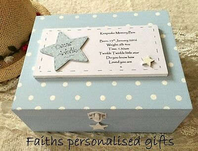 *baby/childrens  Personalised Order Now For Christmas*keepsake Memory Wooden Box