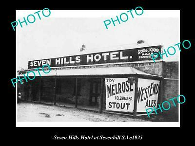 OLD LARGE HISTORIC PHOTO OF SEVEN HILLS SA, THE SEVEN HILLS HOTEL c1925