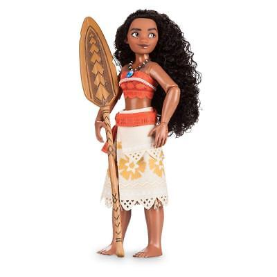 New Disney Store Moana 28cm Classic Doll With Foldable Boat Toy