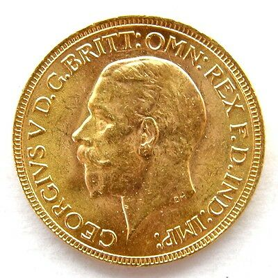 1931 George V Full Gold Sovereign South Africa Mint Small Head