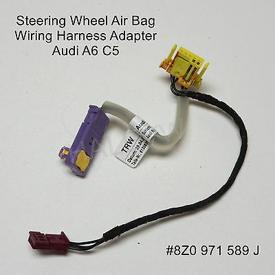 AUDI A6 C5 Steering Wheel Airbag Air Bag Wiring Harness Adapter 02-04  Audi A Wiring Harness on