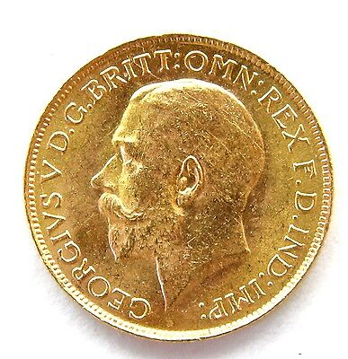 1927 George V Full Gold Sovereign South Africa Mint