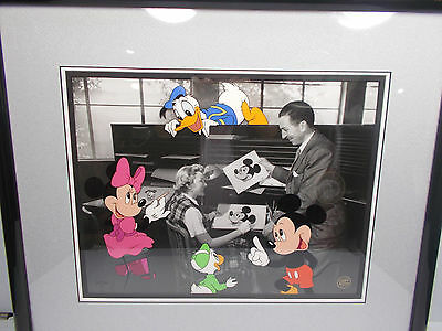 Disney Walt at the Ink & Paint Dept.Hand Painted Character Cel LE 950 RARE HTF
