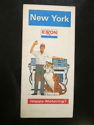 Exxon Map of New York 1973 Edition Happy Motoring
