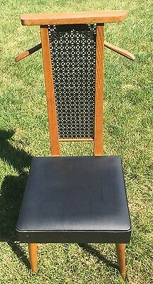 Vintage 1970 Setwell Mid Century Butler Valet Chair With Seat Storage Mcm